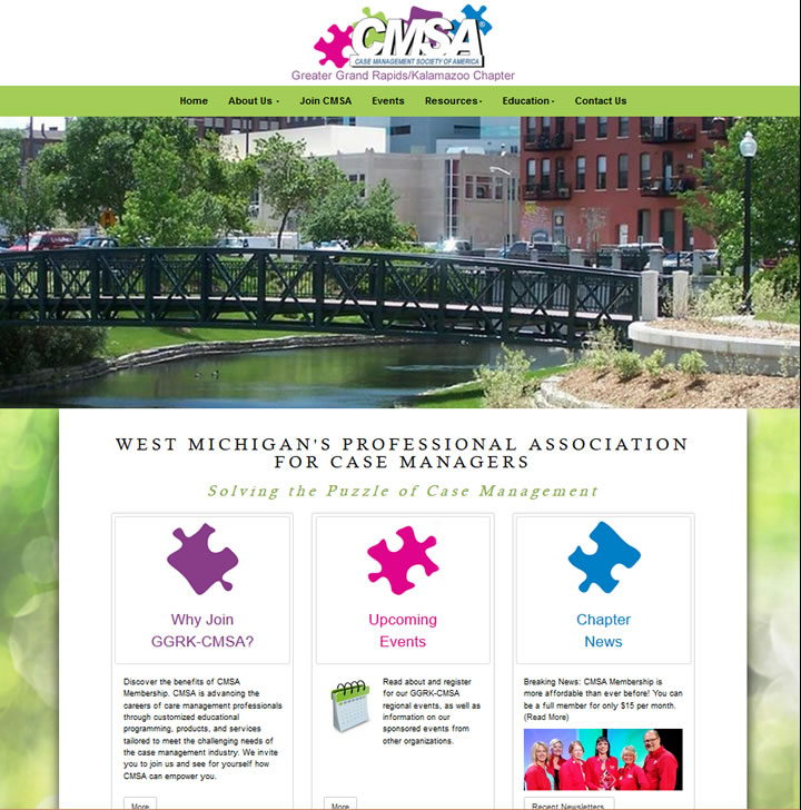 Award winning website for the CMSA of Holland, Grand Rapids and Kalamazoo