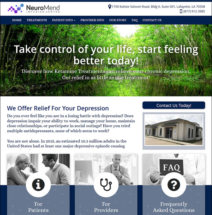 Ketamine Infusion Center Websites Spravato Website Creators Designers